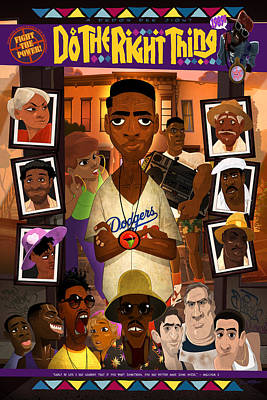 Rap Digital Art - Do The Right Thing by Nelson Dedos Garcia