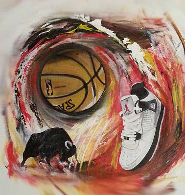 Basketball Abstract Painting - Do The Right Thing by Toblerusse