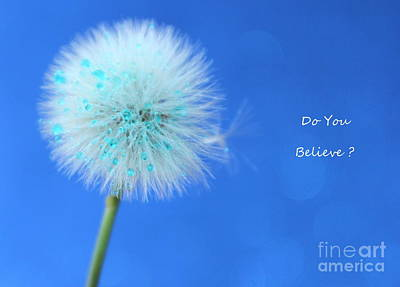 Believe Photograph - Do You Believe by Krissy Katsimbras