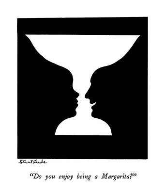 Glass Drawing - Do You Enjoy Being A Margarita? by Stuart Leeds