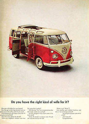 Vw Camper Van Digital Art - Do You Have The Right Kind Of Wife For It by Georgia Fowler