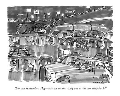 Traffic Drawing - Do You Remember by Michael Crawford