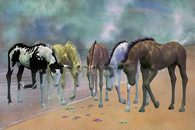 Horse Mixed Media - Do You See Stars by Betsy Knapp