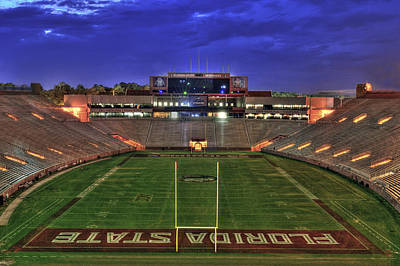Florida State Photograph - Doak Campbell Stadium by Alex Owen