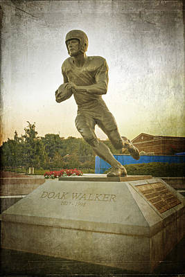 Sports Royalty-Free and Rights-Managed Images - Doak Walker Statue by Joan Carroll