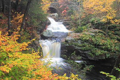 Photograph - Doanes Falls Fall Foliage by John Burk