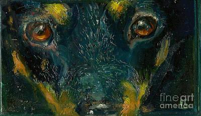 Painting - Doberman by Donna Chaasadah