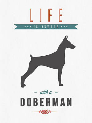 Doberman Pinscher 01 Art Print by Aged Pixel