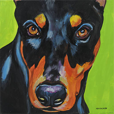 Doberman Pinscher Wall Art - Painting - Doberman Pinscher by Melissa Smith
