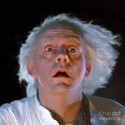 Doc Brown Art Print by Paul Tagliamonte