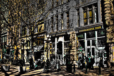 Photograph - Doc Maynards And The Underground Tour - Seattle Washington by David Patterson