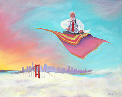 Painting - Doc Rides The San Francisco Sky by Asha Carolyn Young