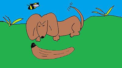 Dachshund Puppy Digital Art - Doc The Dachshund  by Othen Cummings