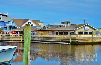 Photograph - Gibbys Dock And Dine In Carolina Beach by Bob Sample