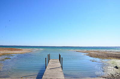 Photograph - Dock And Traverse Bay by Randy J Heath
