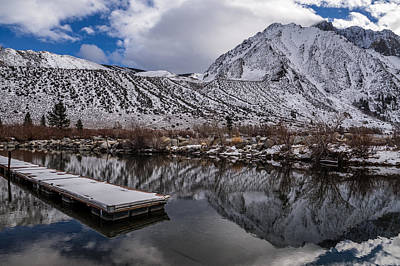 Cloudy Day Photograph - Dock At Convict Lake by Cat Connor