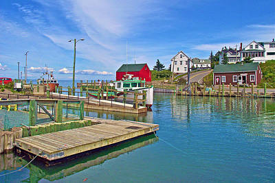 Dock At High Tide In Halls Harbour-ns Original by Ruth Hager