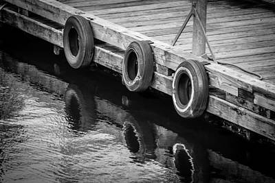 Photograph - Dock Bumpers by Melinda Ledsome