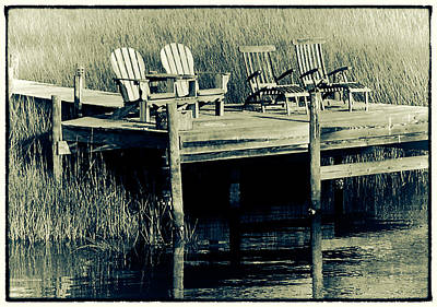 Photograph - Dock Chairs by Jeanne Hoadley