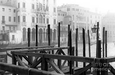 Photograph - Dock Curves In Venice by John Rizzuto