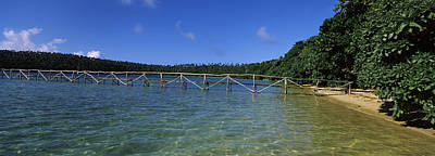 Dock In The Sea, Vavau, Tonga, South Art Print by Panoramic Images