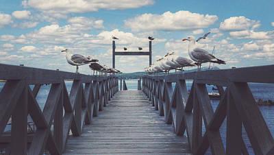 Maine Beach Digital Art - Dock Of The Bay by Kenny  Noddin