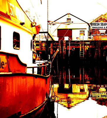 Dock Of The Bay Art Print by Mamie Gunning