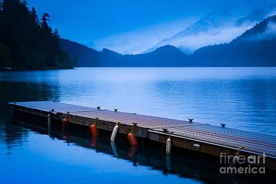 Crescent Photograph - Dock On The Lake by Inge Johnsson