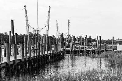 Photograph - Dock On The River Mono by John Rizzuto
