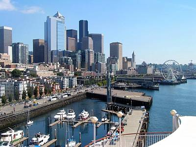 Photograph - Dock Side In Seattle  by Annika Farmer