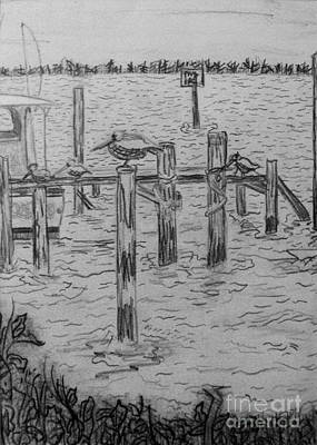 Drawing - Dock Sketch by Megan Dirsa-DuBois