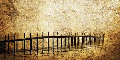 Dock Art Print by Skip Nall