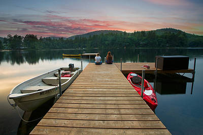 Photograph - Dock Talk Between Friends by Darylann Leonard Photography