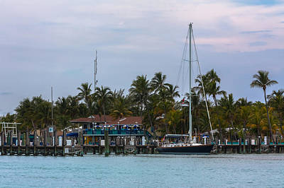 Photograph - Docked At The Bimini Big Game Club by Ed Gleichman