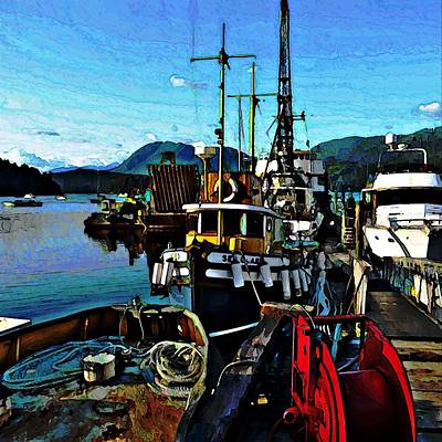 Photograph - Docked Before Sunset by Stanley Funk