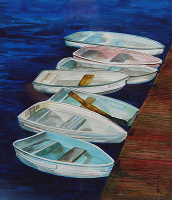 Painting - Docked by Bobbin