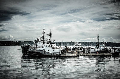 Photograph - Docked Fishing Vessels by Roxy Hurtubise