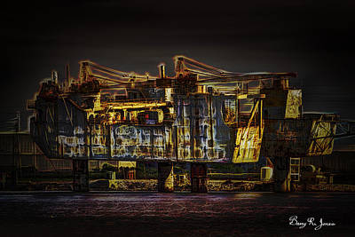 Photograph - Docked Drilling Rig by Barry Jones