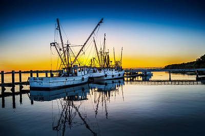 Shrimp Boat Photograph - Docked For The Day by Richard Kook