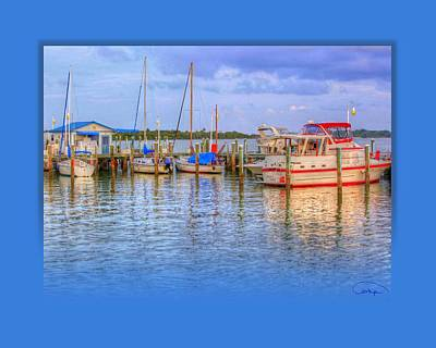 Docked For The Day Art Print by Tammy Thompson