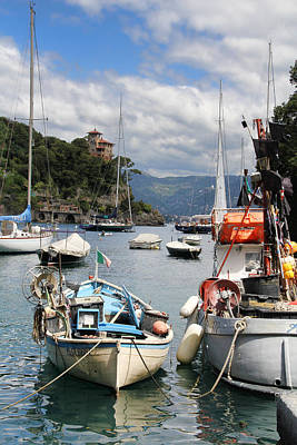 Photograph - Docked In Portofino by Nancy Ingersoll