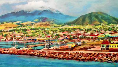 Mixed Media - Docked In St. Kitts by Deborah Boyd