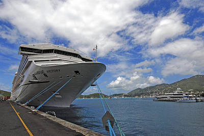 Photograph - Docked In St. Thomas  The Virgin Islands by Willie Harper