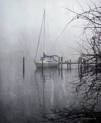 Docked In The Fog - Texture Effect Art Print by Brian Wallace