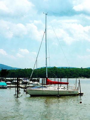 Art Print featuring the photograph Docked On The Hudson River by Susan Savad