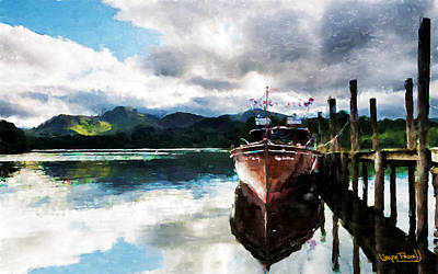 Docked Art Print by Wayne Pascall