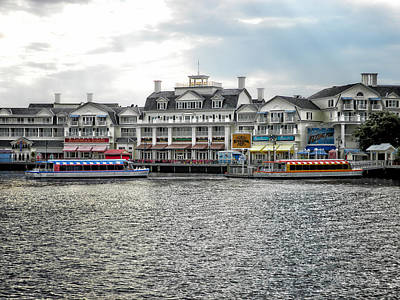 Docking At The Boardwalk Walt Disney World Art Print by Thomas Woolworth