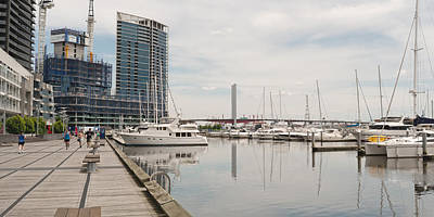 Melbourne Photograph - Docklands Marina by View Factor Images