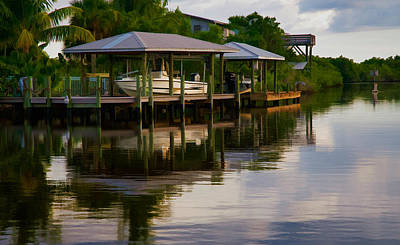 Photograph - South Florida Docks And Waterways by Ginger Wakem