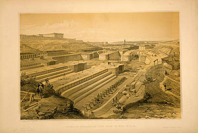 St Paul Drawing - Docks At Sebastopol With Ruins Of Fort St. Paul  W. Simpson by Litz Collection